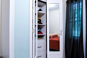 Belle Vue Closet Fronts with Frosted and Mirrored Glass Combination