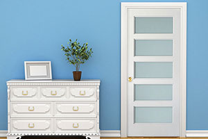 Bayshore 5Z Door, featuring a 5-Lite Design with Acid-etched Glass